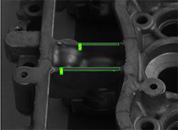 Oberflächenkontrolle Anwendungsbeispiele: Prüfung auf Ausbrüche