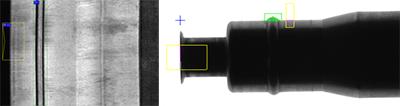 Oberflächenkontrolle Anwendungsbeispiele Sickenprüfung O-Ring Adapter